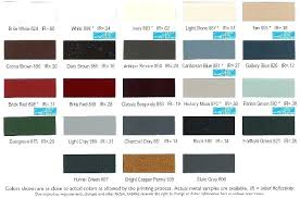 Metal Roof Colors Roofing Color Chart For Houses Asc Menards