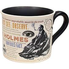 sherlock holmes coffee mug holmes es rules of deduction intriguing images and