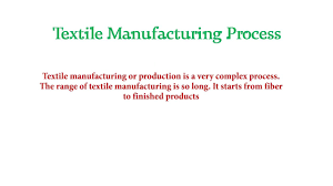Flow Chart Of Textile Manufacturing Youtube