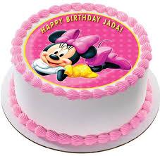 Minnie Mouse Edible Birthday Cake OR Cupcake Topper – Edible