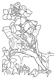Small Picture Flower Fairy Wallflower coloring page for kids for girls coloring