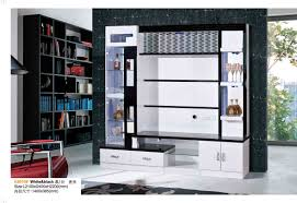 Living Hall Tv Cabinet Design China Living Room Furniture Wood White Black Hall Wine