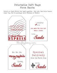 Tags For Gifts Templates Santa Gift Labels Rome Fontanacountryinn Com
