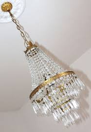 hot air balloon chandelier in empire style with crystal glass pendants and ormolu