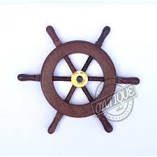 shipboat wheel nautical wooden pirate ship handmade boat wall decor