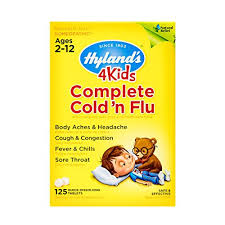 Kids Cold And Flu Relief Tablets By Hylands 4kids Complete