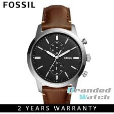 fossil fs5280 men s townsman chronograph brown leather watch malaysia
