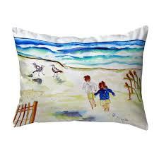 Beach Design Pillows Amazon Com Betsy Drake Polyester Throw Pillows Running At