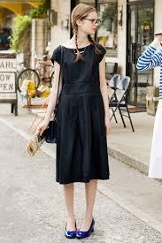 太ベルトのおじょうさんワンピースブラック Style2019 夏