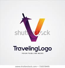 Letter V Templates Letter V Travel Logo Template Design Stock Vector Royalty Free