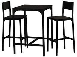 Ensemble table + 2 tabourets de bar LOKO coloris noir - Vente de ...