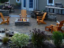 Fine Patio Designs With Fireplace And Pit In One Beautiful Design