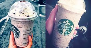 cookies cream frappuccino at starbucks