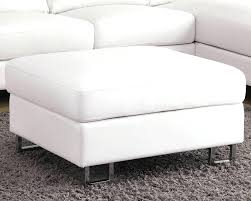 white leather ottoman bench slipcover storage moroccan pouf small double faedaworks ohio coffee table frame target fuzzy blue large rectangular