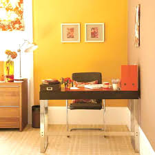 good home office colors. i love the warm colors in this tiny officesomething to think about good home office