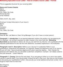 Resume Email Marketing Specialist Cover Letter Best Inspiration
