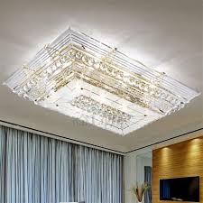 rectangular ceiling light. Flush Ceiling Light Fixtures Rectangular Shaped - Dramatic E12/E14 Crystal Mount S