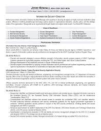 Sample Information Security Resume director of security resume Yenimescaleco 1