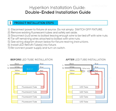 Wiring Fluorescent Lights To Led Led Fluorescent Retrofit Wiring Diagram How To Bypass