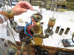 lamp parts and repair lamp doctor broken antique brass floor before closing the cluster and after the wire nuts are safely in place bulbs are added and the lamp is plugged in for testing