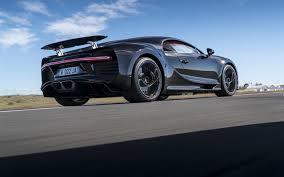 Bugatti Chiron, 2018, Hypercar, Rear View, Black Highway,