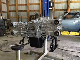 assembling all painted engine parts