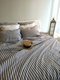 blue and white striped duvet cover photo 2 of 6 navy stripe