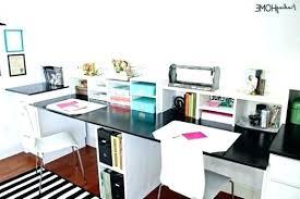 dual desk home office. Dual Desks Home Office Desk Crafts
