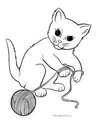 008 free printable kitten page at kittens coloring pages