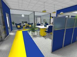 office design layouts. Low Partition Office Layout In 3D Design Layouts