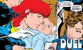 cable is the son of x men team leader cyclops and the clone of jean grey