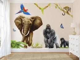 jungle wall decals jungle decals