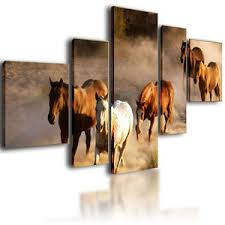 image is loading extra large canvas pictures wall art horses split  on wall art pictures of horses with extra large canvas pictures wall art horses split multi panel
