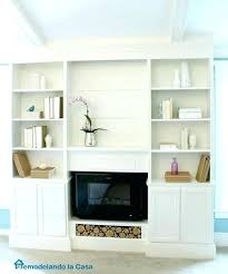how to build shelves next fireplace bookcase built ins with insert featuring la bookshelves beside bookcases