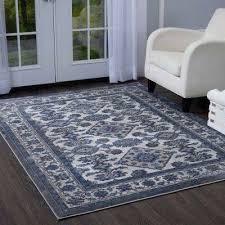 blue and grey area rug brown light sofia gray