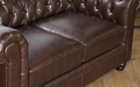 hampton antique chestnut brown leather chesterfield sofa sofas