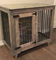 pet crate furniture. rustic indoor dog kennel furniture pet crate