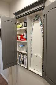 Store An Ironing Board In A DIY Built In Wall Cabinet