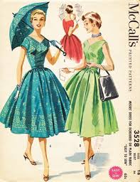 Retro Dress Patterns Custom Sewing Pattern Vintage Dress 48s 48s Easy Sew Full Gathered Skirt