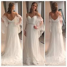 2018 Vintage Country Style Bohemian Wedding Dress Off The Shoulder Vintage Country Style Wedding Dresses