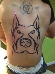 Pitbull Back Tattoo Cheetah Print Biohazard Tattoo Tat Tattoos