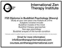 zen therapy diploma in buddhist psychology international zen  zen therapy diploma in buddhist psychology