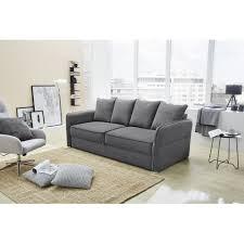 Schlafsofa Bettfunktion Jugendsofa Couch 3 Sitzer Kuschelsofa Lenny 41409 Grau Ca 210 Cm