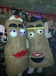 my mother in law actually made these costumes she started with the egg crate type