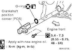 2003 nissan altima the crankshaft position sensor wiring harness graphic