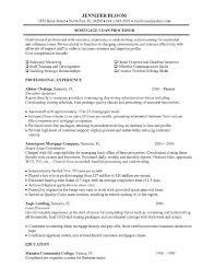 Resume Template Loan Processor Resume Samples Best Resume Career