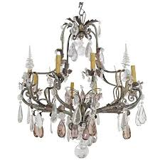 amazing multi light pendant chandelier of antique spanish multi colored crystal chandelier at 1stdibs