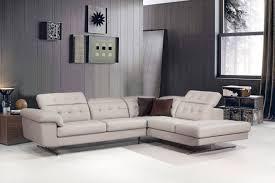 divani casa veneto modern grey italian leather sectional sofa by vig furniture