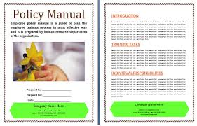 Policies And Procedures Manual Template Free Manual Templates