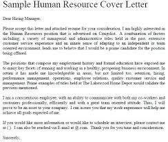Sample Hr Cover Letter Cover Letter Template For Hr Position
